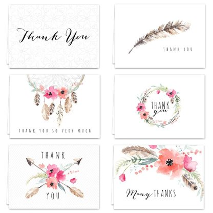 Boho Spirit Thank you Cards