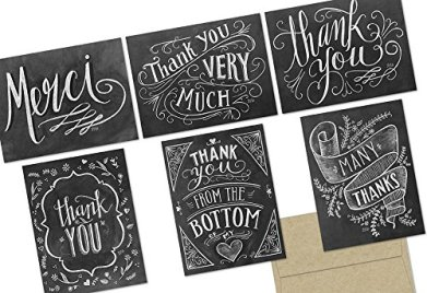 Chalkboard Thank you Cards