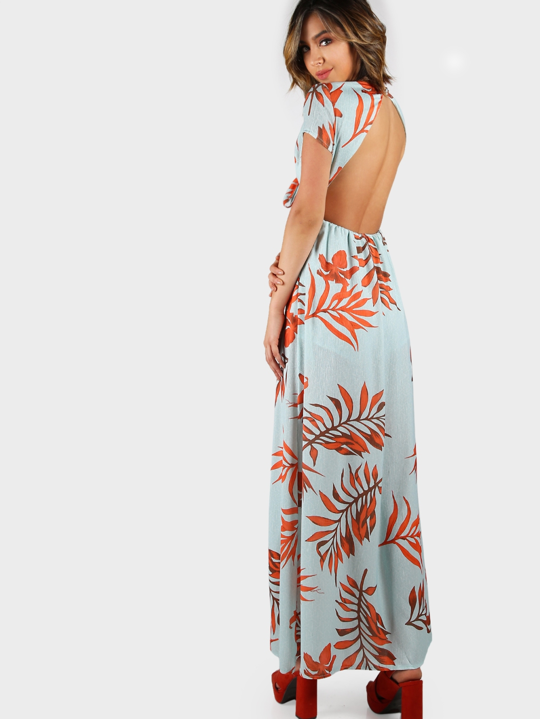 Backless print wrap maxi dress.jpg