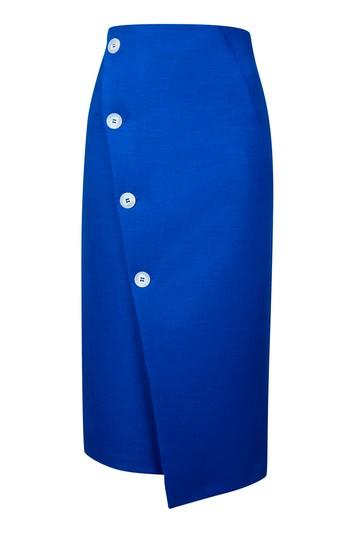 Button Midi Skirt_Top Shop