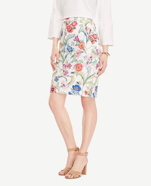 Jungle Flora Pencil Skirt_Ann Taylor