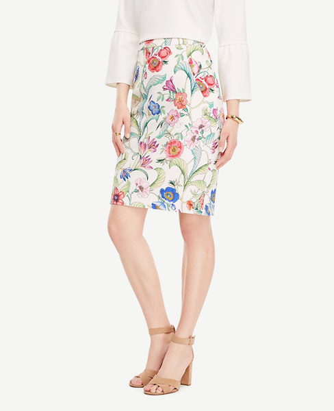 Jungle Flora Pencil Skirt_Ann Taylor