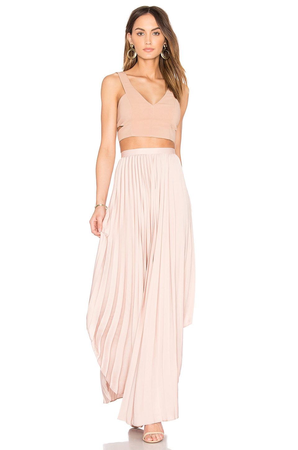 Maxi Skirt in Dusty Rose