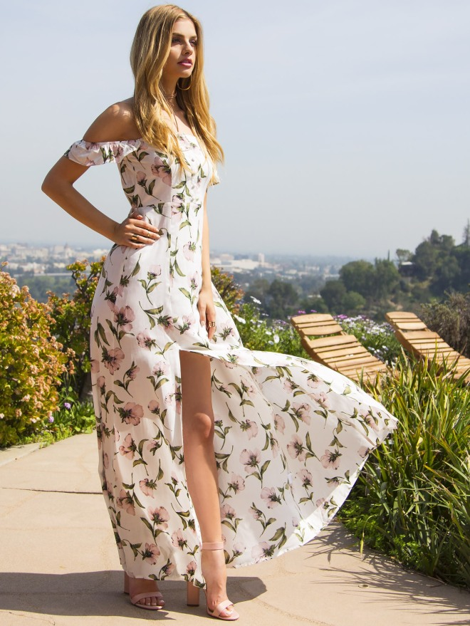 White flower print off the shoulder maxi dress.jpg